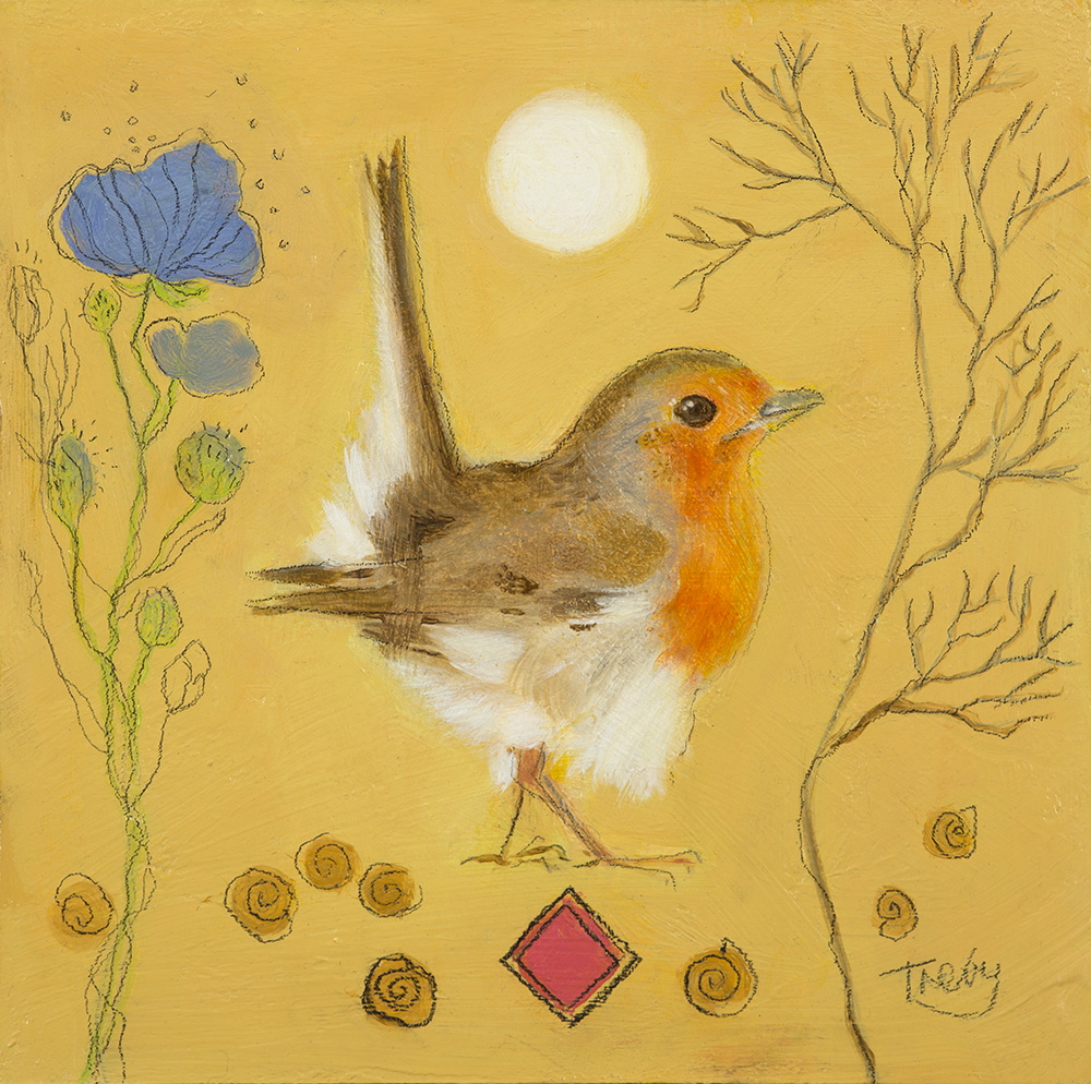 29 - Robin and Himalayan Poppy